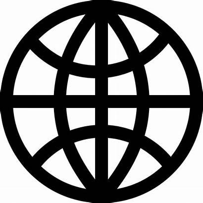Globe Icon Outline Dark Grid Web Icons