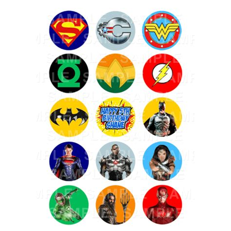 justice league cupcake toppers archives edible cake