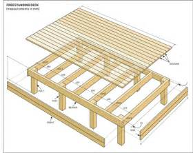deck building plans build a freestanding deck australian handyman magazine