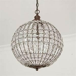 Lampe Mit Kristallen : kugellampe cristal mit kristallen d34cm antik braun deckenleuchte kugel ~ Orissabook.com Haus und Dekorationen