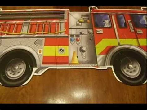 melissa and doug fire truck floor puzzle review youtube