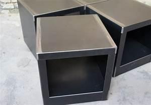 Table De Chevet Cube : table cube metal design table design mobilier design ~ Teatrodelosmanantiales.com Idées de Décoration