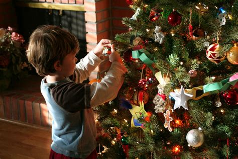 putting christmas lights on tree aidan decorates the tree we put up our tree on f flickr