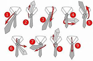 How To Tie A Full Windsor Knot Diagram