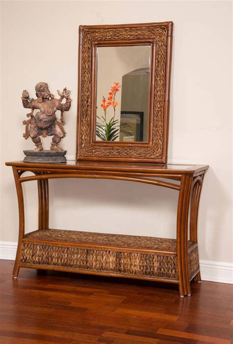 panama rattan  wicker console sofa table  alexandersheriden rattan man wicker