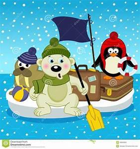 Pingouin Sur La Banquise : voyage de pingouin de morse d 39 ours blanc sur la banquise illustration de vecteur image 48005862 ~ Melissatoandfro.com Idées de Décoration
