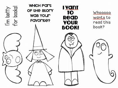Bookmarks Library Halloween Bookmark October Printable Themed