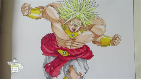 drawing legendary super saiyan broly youtube