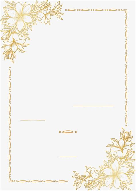 golden hand painted border vector png gold golden png