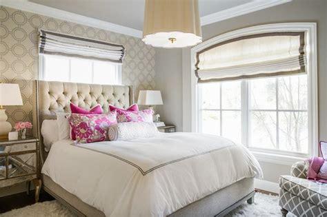hot pink headboard contemporary bedroom great