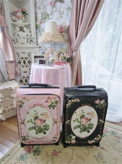 shabby chic suitcase of cabbages and kings painted vintage suitcases shabby chic vintage pinterest beautiful