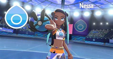 nessa    water type gym leader  pokemon sword