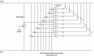 Fuel Tank Construction And Digital Fuel Gauge