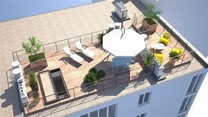 Aménagement Toit Terrasse : am nagement d 39 un rooftop pr s de paris clamart 92140 une r alisation de rm architecte ~ Melissatoandfro.com Idées de Décoration