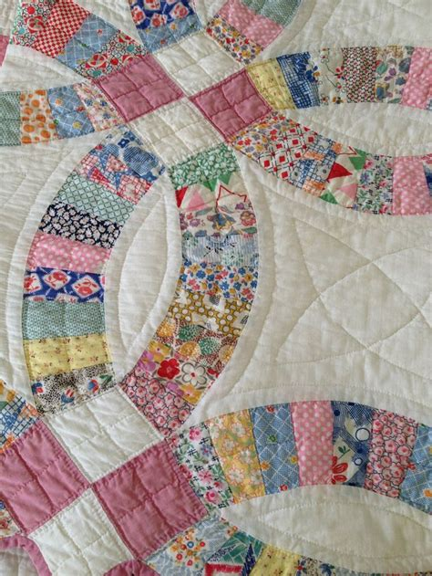 lovely wedding ring quilt applique patchwork and quilts
