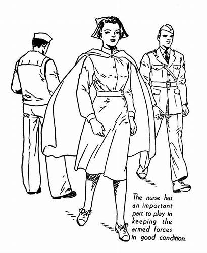 Nurse Coloring Pages Printable Nurses Colouring Military