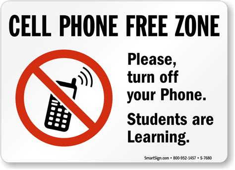 cellphone or cell phone cell phone free zone sign no phone allowed sign at best