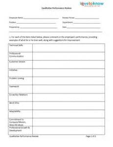 free exles of employee evaluations templates evaluation employee employee performance