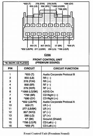 2005 ford taurus radio wiring diagram  6021619marcella