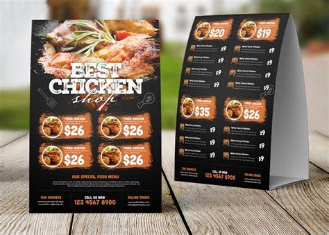 restaurant tent menu card  psd