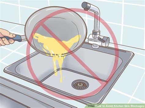 throw kitchen sink 3 ways to avoid kitchen sink blockages wikihow 2733