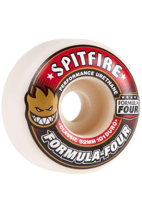 formula 4 spitfire spitfire formula four classic 52mm roue white red 4 pack