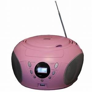 Radio Mit Cd Spieler : denver cd player boombox mit mp3 funktion pink m dchen ~ Jslefanu.com Haus und Dekorationen
