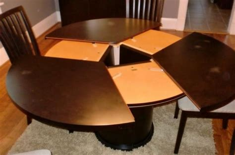 Expandable Round Dining Room Table Expandable Dining Room