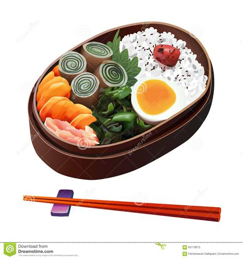 illustration cuisine food illustration japanese food illustration stock