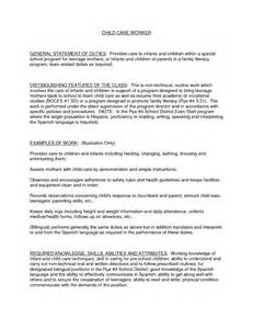 sle resume for qualified childcare worker residential child care worker sle resume