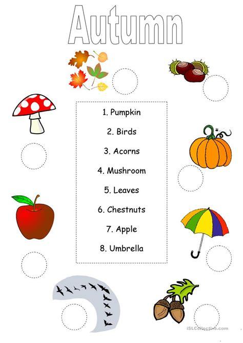 Autumnfall Worksheet Worksheet  Free Esl Printable Worksheets Made By Teachers