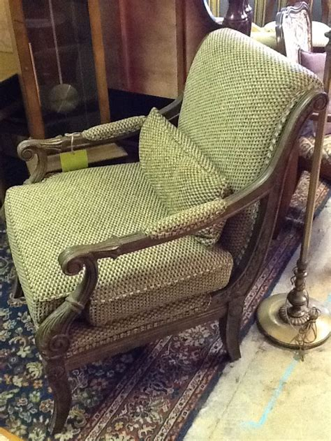 henredon waffle weave chair with lumbar pillow for sale at