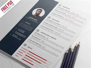 professional psd resume template free psd professional resume cv template psd by psd