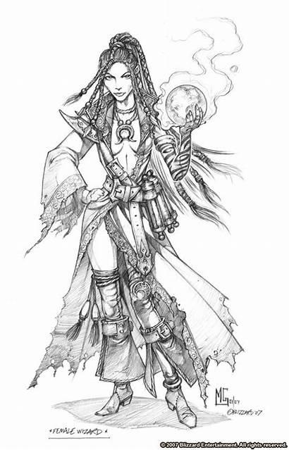 Wizard Concept Coloring Adult Mark Diablo Pages