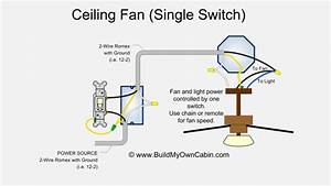 Wiring diagram for a ceiling fan with remote control