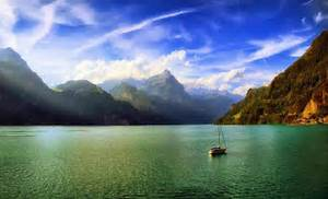 Nature, Landscape, Mountain, Lake, Clouds, Mist, Morning