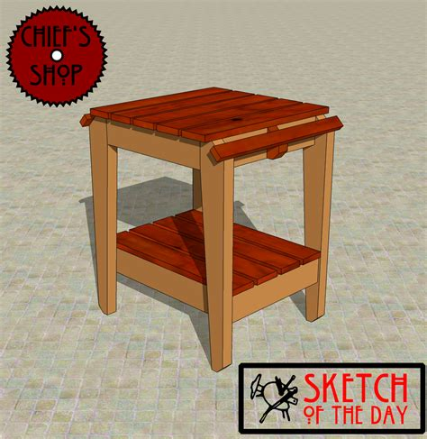 bbq work table plans  woodworking