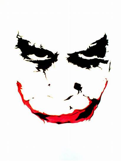 Clipart Joker Stencil Ledger Heath Mouth Harley