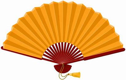 Fan Chinese Clipart Clip Transparent Hand Asian
