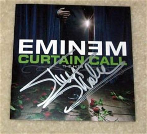eminem curtain call eminem signed autographed quot curtain call quot cd cover