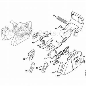 Stihl 026 Chainsaw  026pro  Parts Diagram  Chain Brake