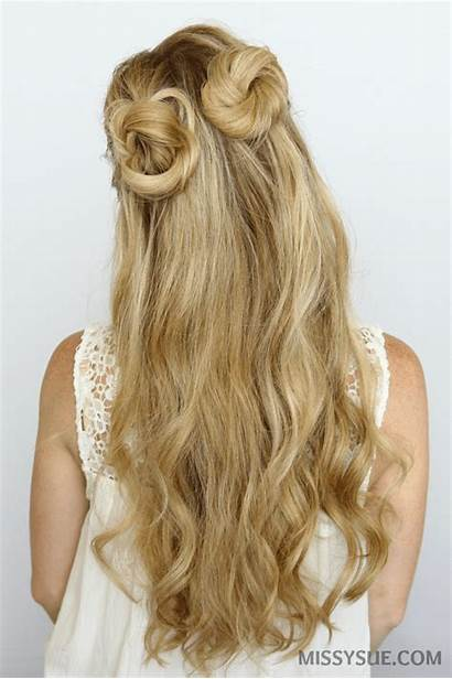 Buns Bun Half Hair Double Hairstyles Tutorial