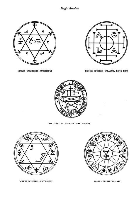 Sigils of magical protection, mainly kabbalistic in nature. Good to have on hand, just in case