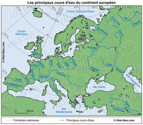 Carte Des Fleuves Du Monde Exercice by Les Fleuves 232 Res De L Europe