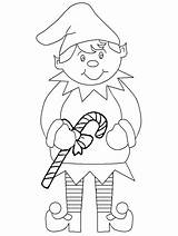 Coloring Elf Pages Printable Shelf Christmas Elves sketch template