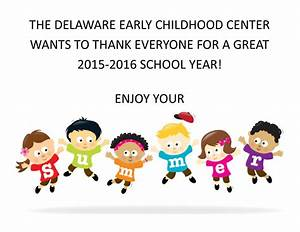 Enjoy Your Summer  U2013 Delaware Early Childhood Center
