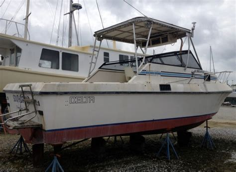 Delta Sport Fishing Boats For Sale by 1988 Delta 28 Sport Fish The Hull Boating And