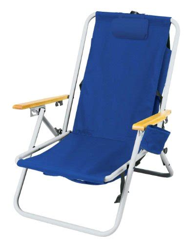high back steel backpack chair by wearever blue