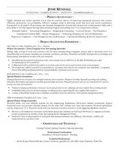 resume of accountant in construction company exle project accountant resume free sle