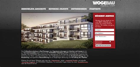 Wogebau Bad Kissingen by Wogebau Objektbau Einseinsvier Webdesign Bad Kissingen